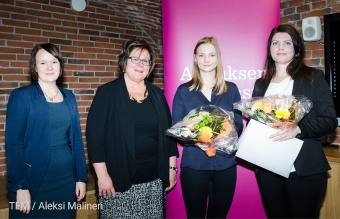 Finnveran Jyväskylän-toimipiste palkittiin Suomen parhaana kesätyönantajana